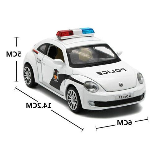 Toys Kids Model Cars Door Alloy Diecast Police Car Cool Toy Gift