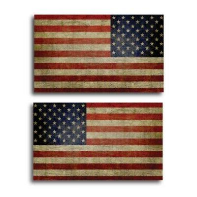 weathered american flag magnets 2 pack 3x5