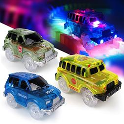 Light-Up Replacement Track Race Car Toy | 4X4 Racing Cars w