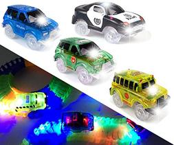 Light Up Track Replacement Race Cars Toy | Glow in the Dark