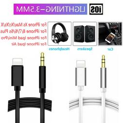 Lightning to 3.5mm AUX Audio Car Music Cable for iPhone 7 8