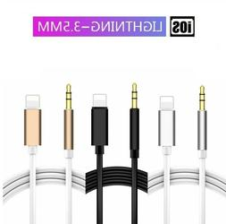 Lightning to 3.5mm Car Audio AUX Jack Adapter Cable For iPho