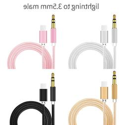 Lightning to 3.5mm Jack Car AUX Audio Music Cable for iPhone