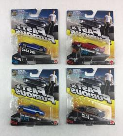 Lot of 4 Mattel Fast and Furious FURIOUS 1:55  Diecast Cars