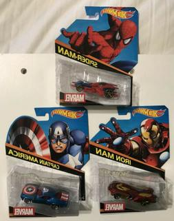 HOT WHEELS  MARVEL CHARACTER CARS  2014CAPTAIN AMERICA SPID