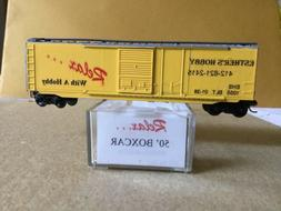 Micro-Trains 50' Boxcar decorated for Esther's Hobby, Pi