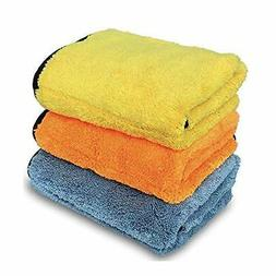 Microfiber Towels for Cars CAREMO 3 Pack Polishing Waxing Cl