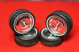 model car parts  WIDE TRAC -LO PROFILE TIRES AND 4 BEAUTIFUL