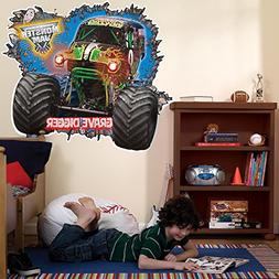 BirthdayExpress Monster Jam Room Decor - Grave Digger 3D Gia