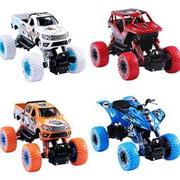 iPlay, iLearn Monster Truck Toys Set, 1:30 Large Pull Back P