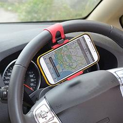 Mounts & Holders - Car Steering Wheel Mount Holder Rubber Ba