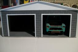 2 CAR GARAGE DIORAMA FOR 1:18 SCALE DIECAST BY: cbcustomtoys