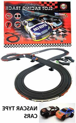 JJ_TOYS Nascar Style Slot Car Track Ho Scale Race Set New An