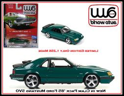 Auto World New 1/64th Die Cast Car '85 Ford Mustang SVO By J