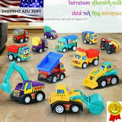 NEW 12 Pack Cars Construction Vehicles Toy For Kids Toddlers