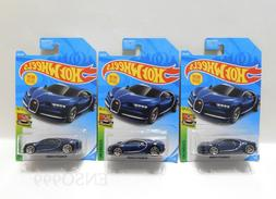 New 2019 Hot Wheels 16 Bugatti Chiron N Case Lot of 3 Cars V