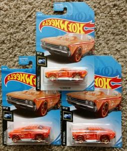 New 2019 Hot Wheels Treasure Hunt '69 Chevelle Lot Of 3 Or