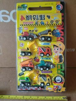 NEW 8 Pack Cars Construction Vehicles Toy For Kids Toddlers