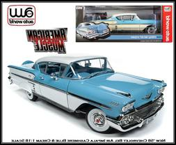 New Auto World Collectible '58 Chevrolet Bel Air Impala 1:18