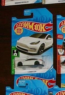 NEW for 2019 ~ HOT WHEELS ~ GREEN SPEED ~ TESLA MODEL 3 ~ WH