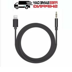 NEW Lightning to 3.5mm AUX Audio Car Music Cable for iPhone