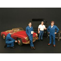 New Mechanics 4 Pieces Figure Set For 1:24 Scale Models by A