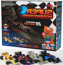 New AFX MegaG+ Super International Ho Slot Car Race Set Tri