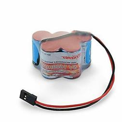 Tenergy 6V 1600mAh NiMH Side by Side Double Hump Battery Pac