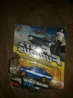 NWOB FAST and FURIOUS 1970  ESCORT DIE-CAST CAR BLUE #6 OF 3