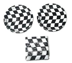 "Open Wheel Indy Car Racing Checkard Flag Party 7"" Plates  Na"