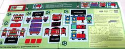 PANEL MULTI 4 TRAIN CARS TO STUFF FOR BABY NURSERY TOY RJR F