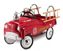 Fire Engine Riding Car Kids Pedal Ride On Fire Truck Outdoor