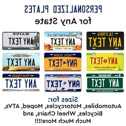 Personalized Custom License Plate Tag for Any State Auto Car