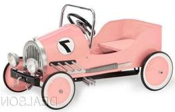 Kids Pink Pedal Car All Metal Construction Ride on Toy With
