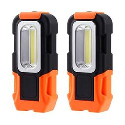 2 Pack Portable LED Work Light, 200lm Brilliantly Bright Mul