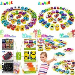 Pull Back Cars 36 Pack Mini Race Toys Assorted Play Vehicles