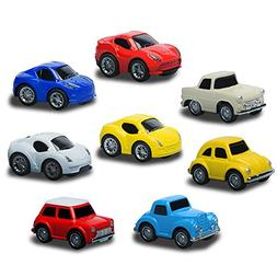 Pull Back Cars Vehicles Set 8 PCS Mini Car Model Constructio