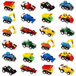 jerryvon Car Toy Mini Pull-BackVehicles for Egg Fillers Ra