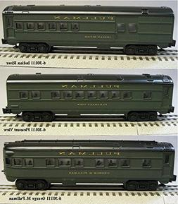 LIONEL 3 PACK PULLMAN LIGHTED PASSENGER CAR SET O GAUGE