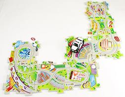 Puzzle Track Play Set - Battery-Operated Toy Vehicle & Floor