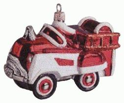 Hallmark QBG6909 1955 Murray Fire Truck Blown Glass 1998 Kee
