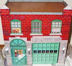 QHG3617 Hallmark Fire Station #1 Kiddie Car Corner 1999 Kidd