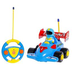 SGILE RC Race Car Train Toy for Toddlers Baby Kids Child, Re