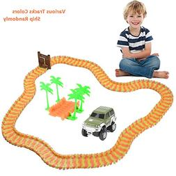 Race Tracks for Boys, Neon Glow in the Dark Tracks and Car T