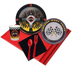 racecar racing party supplies - party pack for 24 guests