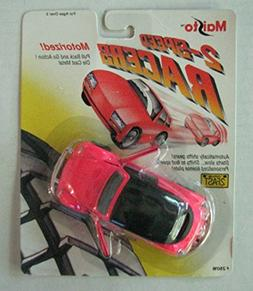 Maisto 2-Speed Racer Pink Beetle Car- Pull Back and Go Actio