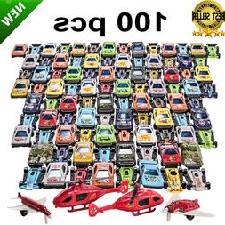 Racing Cars Set Race Car Lot Toy Box for Boys Children Chris