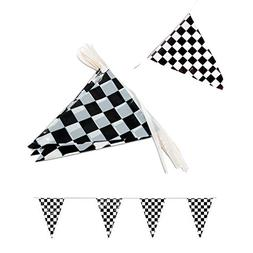 Tytroy Racing Pennant Flag Banners Black White Checkered Nas