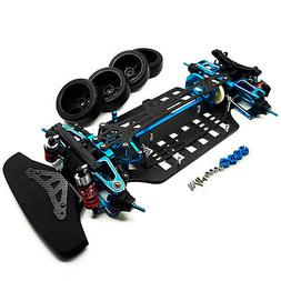 Rc 1/10 4WD Alloy Carbon Touring Car Frame Kit For TAMIYA TT