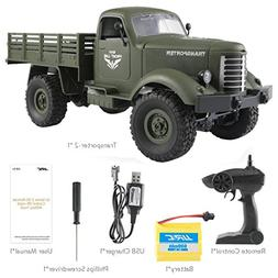 Mikey Store RC Military Truck Off Road JJRC Q61 1:16 2.4G Re